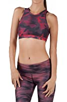 WITH Women's HIGH NECK BRA SNAKE CAMO RED