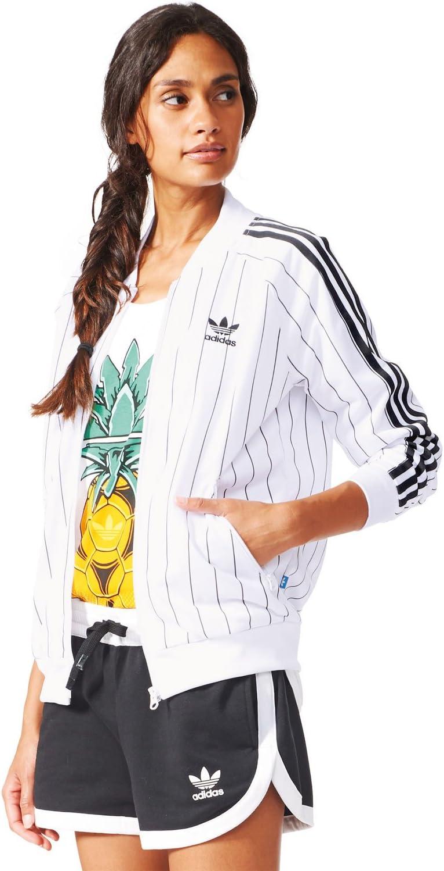 Adidas Supergirl Veste de sport pour femme, weiß schwarz