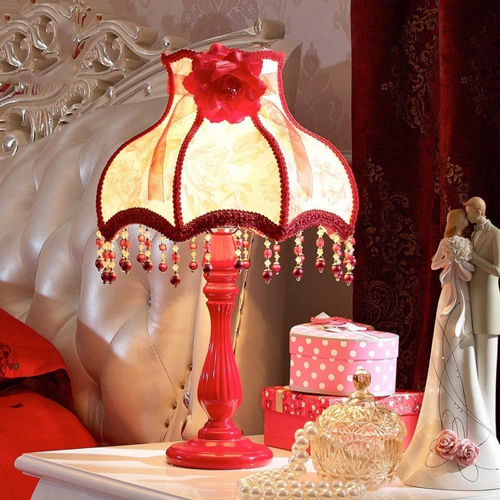 Juexianggou アメリカのヴィンテージ樹脂ランプの寝室のベッドサイドランプの結婚式のギフトの読書机ランプ 柔らかい女性のスカーフ   B07S7WHMD4