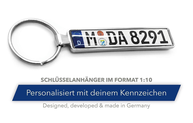 Schlüsselanhänger in Premiumqualität individuell personalisiert KFZ ...