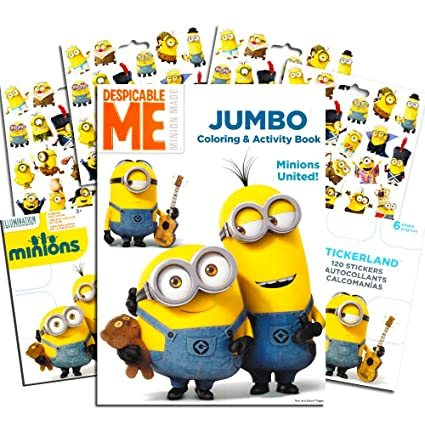 Amazon.com: Despicable Me Minions Coloring Book with Stickers ~ Over ...