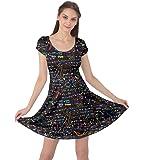 CowCow Womens Math Symbols Mathematics Formula Chemistry School Short Sleeve Dress, XS-5XL