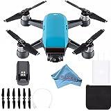 DJI Spark Quadcopter (Sky Blue) CP.PT.000733 + Fibercloth Bundle (White Box)