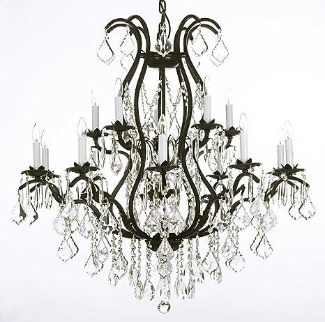 swarovski crystal trimmed chandelier wrought iron chandelier