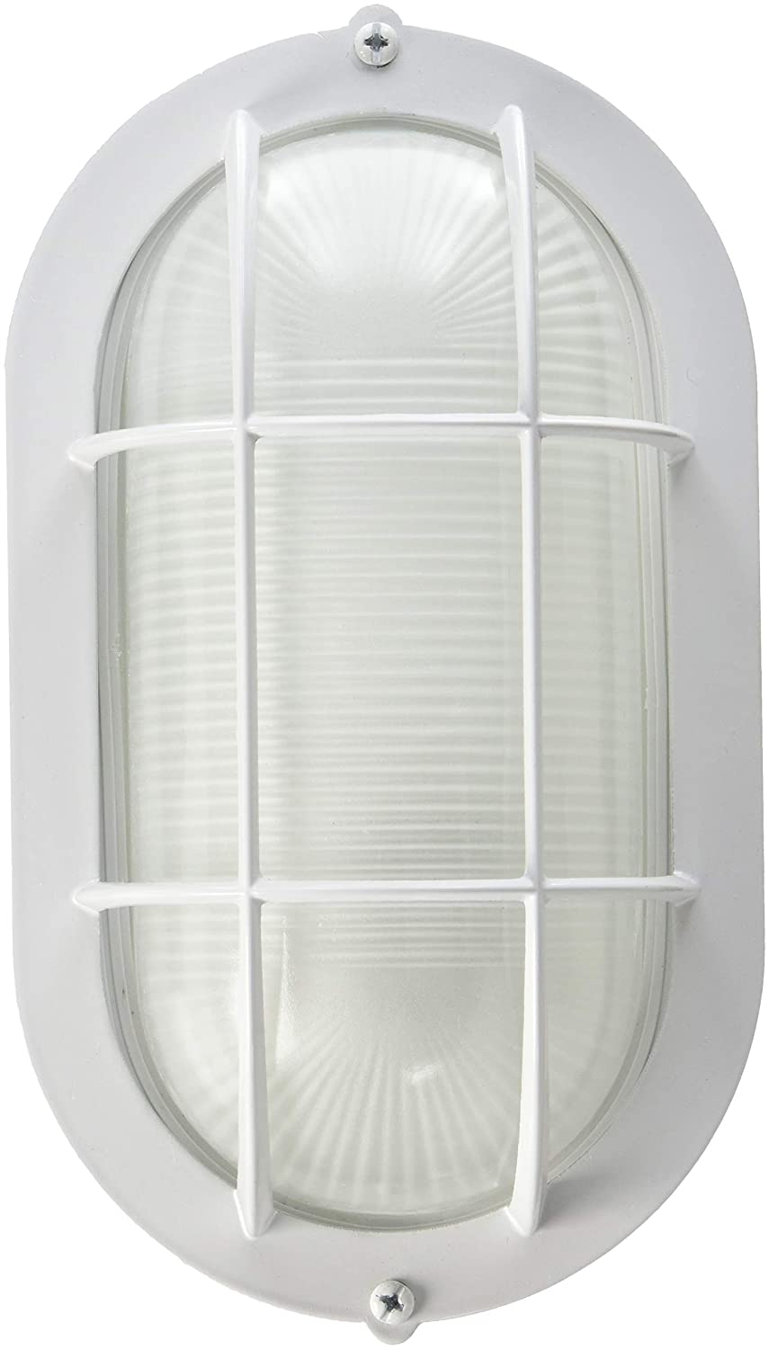 White nautical style caged wall sconce. #wallsconce #exteriorlight #nauticalstyle #cagedlight #cagedsconce #sconces