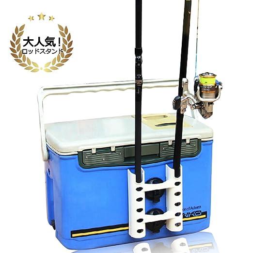 Felimoa 多機能ロッドスタンド 吸盤式 タックルボックス ロッドスタンド キッチン 釣り竿 ホルダーの画像