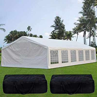 Quictent 20' x 40' Upgraded Galvanized Heavy Duty Gazebo Party Wedding Tent Canopy Carport Shelter with Carry Bags(20x40, White) : Garden & Outdoor