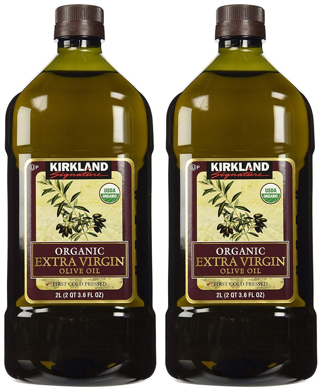 Kirkland Signature frw Organic Extra Virgin Olive Oil, 2 Liters - 3 Bottles