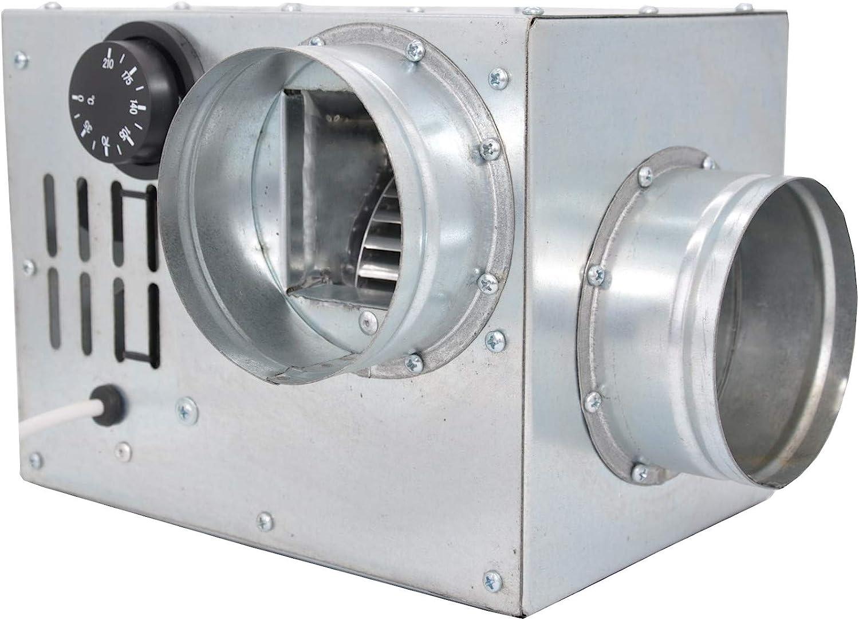 Distribución de aire caliente Chimenea Ventilador Turbina Ventilador an0.5100mm 200m3/h Compact tamaño Ventilador de aire caliente Chimenea Ventilador. Boost de aire caliente.