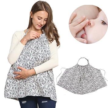012bfff1e00 allaitement Cover-breastfeeding d allaitement Écharpe Coque – Welkey Coton  respirant Tablier d