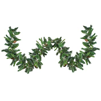 "Northlight 9' x 12"" Imperial Majestic Pine Artificial Christmas  Garland - Unlit - Amazon.com: Northlight 9' X 12"