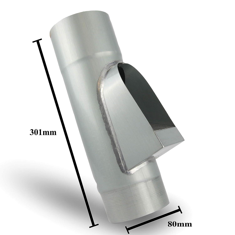 Fallrohrfilter von CurtMaxx /Ø 100 mm Zink /Äste und Schmutz aus dem Fallrohr filtert Laub Effektiver Filter f/ür Fallrohre