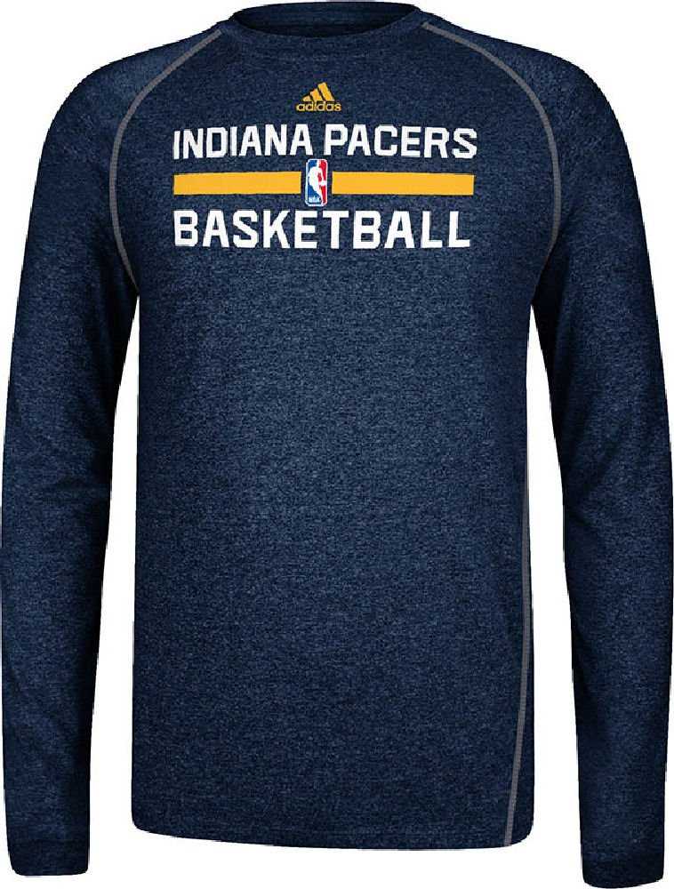 uk availability 3c830 3599d Amazon.com   adidas Indiana Pacers Heather Navy Climalite Practice Long  Sleeve Shirt   Sports Fan T Shirts   Sports   Outdoors