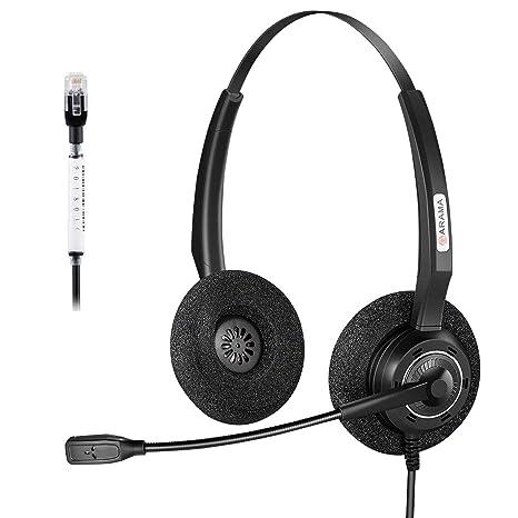 Arama Telefon Headset RJ9 Dual mit Noise Cancelling Mikrofon f0217c5a98