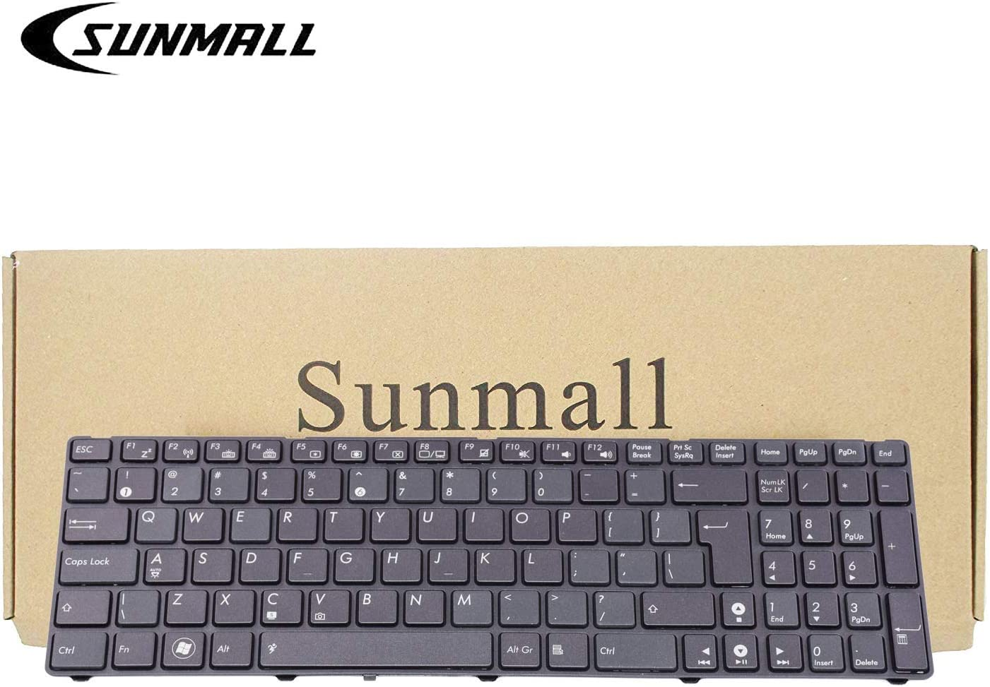 SUNMALL Keyboard Replacement with Backlit & Big Enter Key Compatible with ASUS K52 K53 K54 K55 K72 K73 F50 F55 F70 F75 A52 A53E A54 A55D G51 G53 G56 X52 X53E X54 X55 Series Laptop Black US Layout