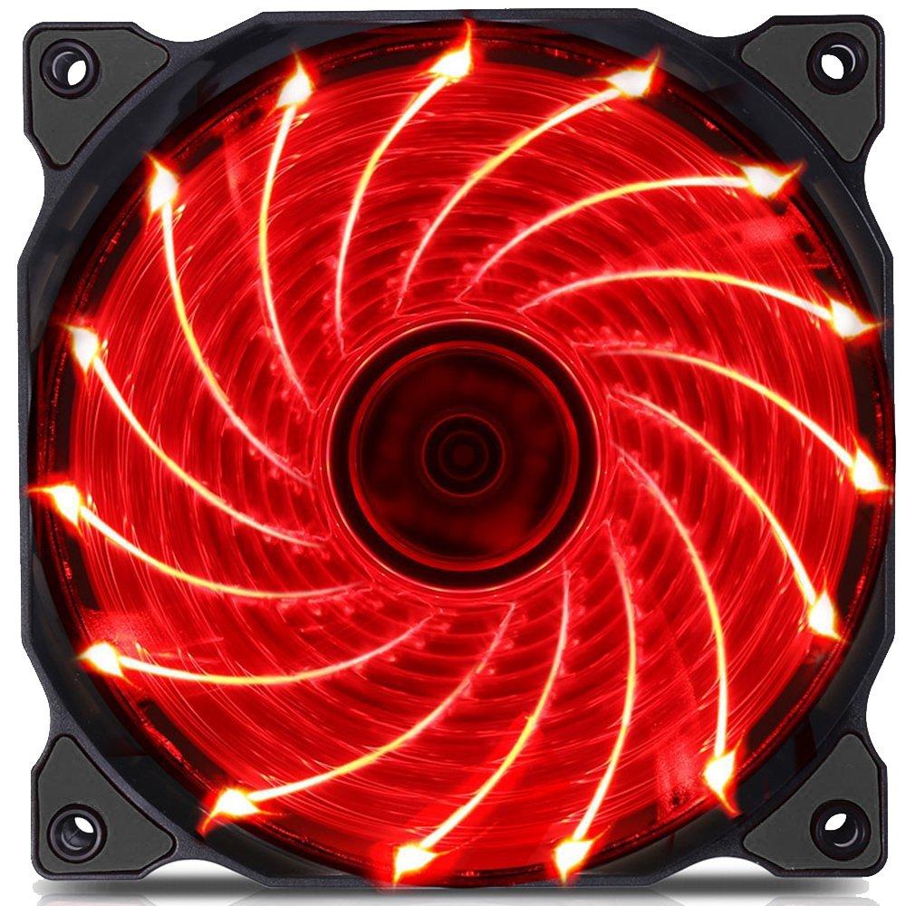 upHere Couleur LED Ventilateur pour Bo/îtier DOrdinateur 120mm Silencieux CPU Dissipateur Pack Triple F03