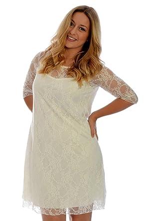 Nouvelle Damen Plus-Size Spitze Kleid: Amazon.de: Bekleidung