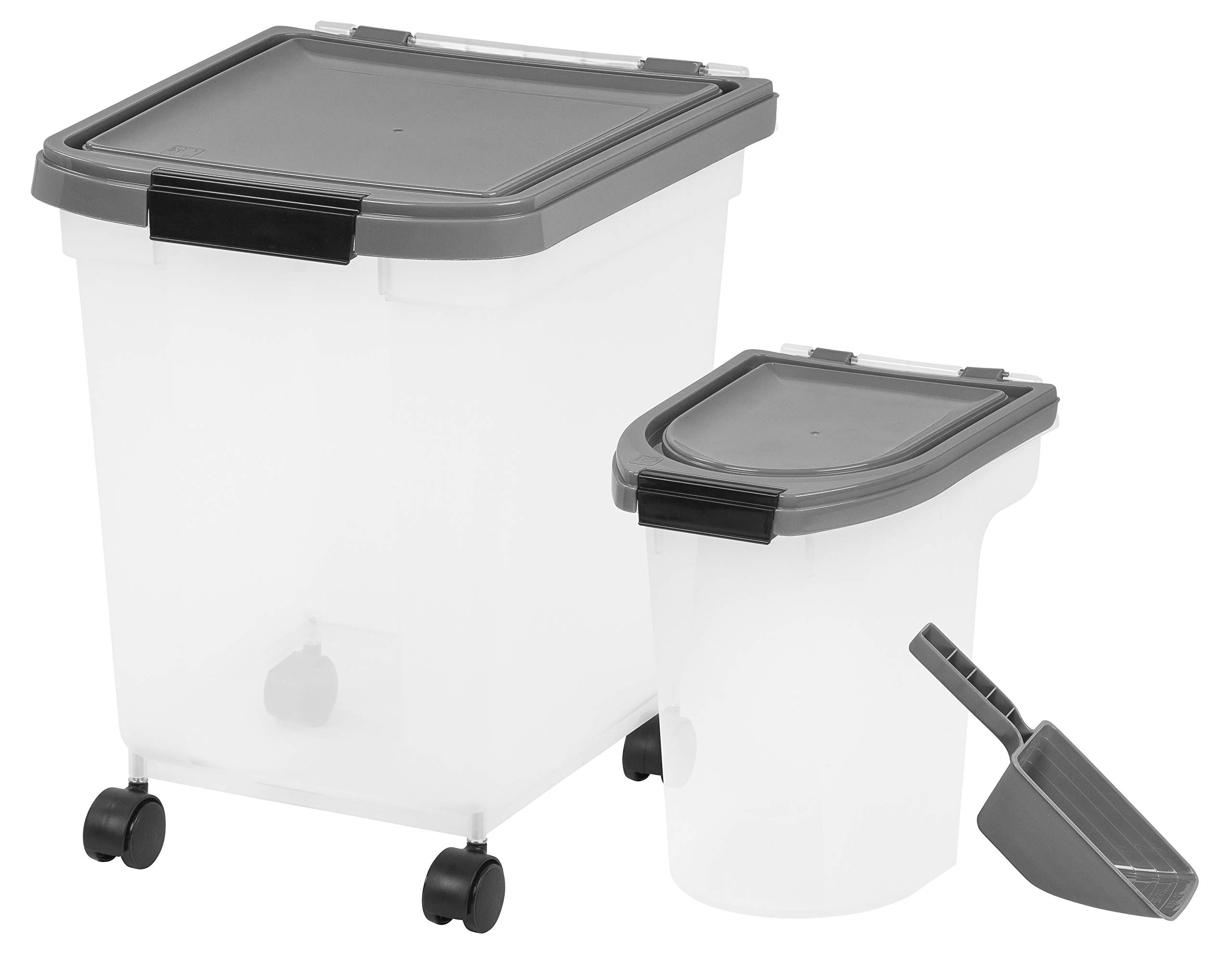 Inspired Essentials 3 Piece Airtight Plastic Pet Food Storage Container Combo with Scoop by Inspired Essentials