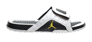 on sale 961b5 bb734 Amazon.com | Jordan Hydro V Premier Men's Slides White/Taxi ...