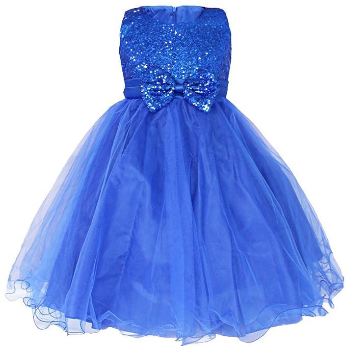 iiniim Niñas Vestidos con Brillante Lentejuelas Vestido de Princesa sin Mangas Boda Dama de Honor Cumpleaños