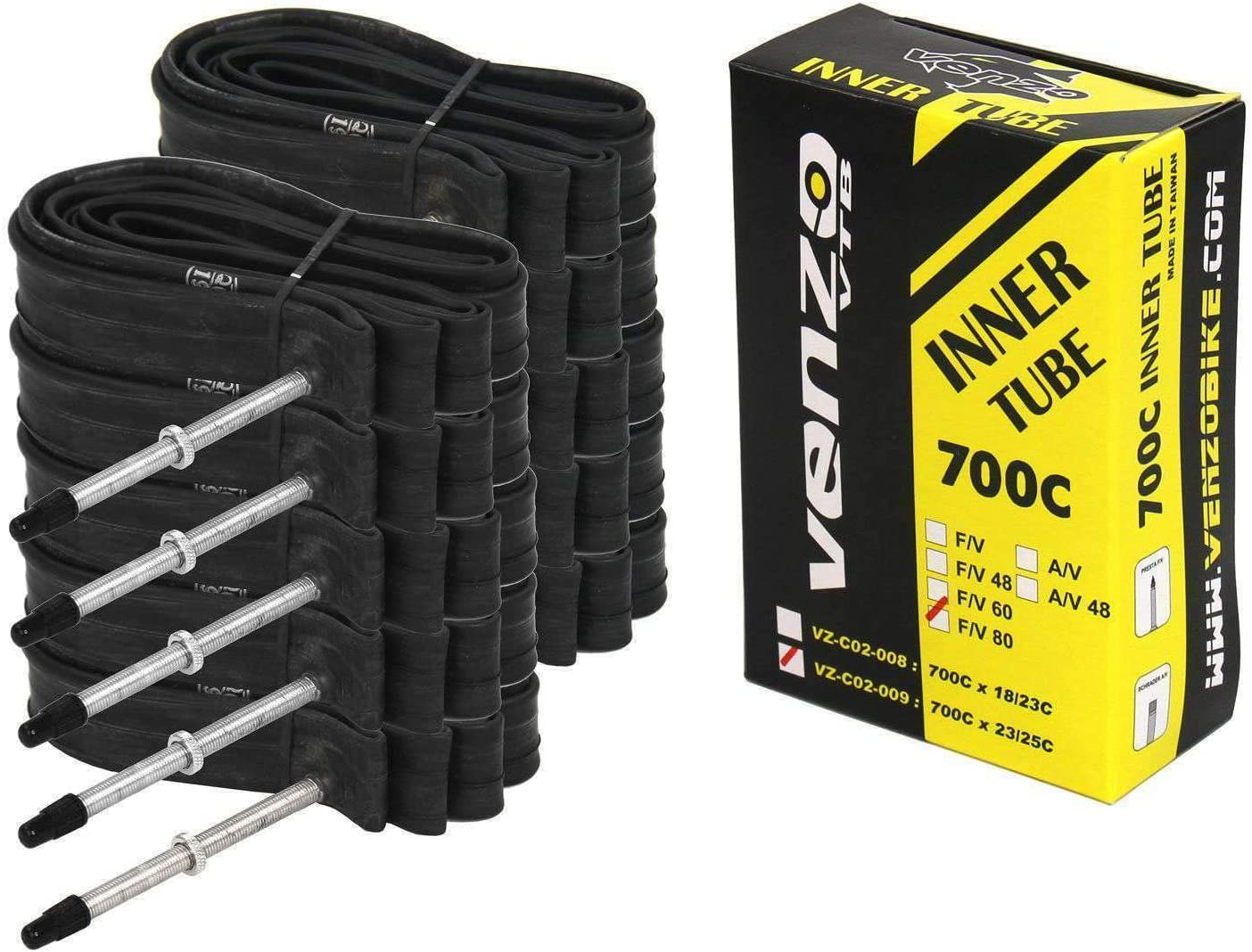 Kenda 700x18-25c presta 32mm valve road bicycle inner tube bike 4 pack