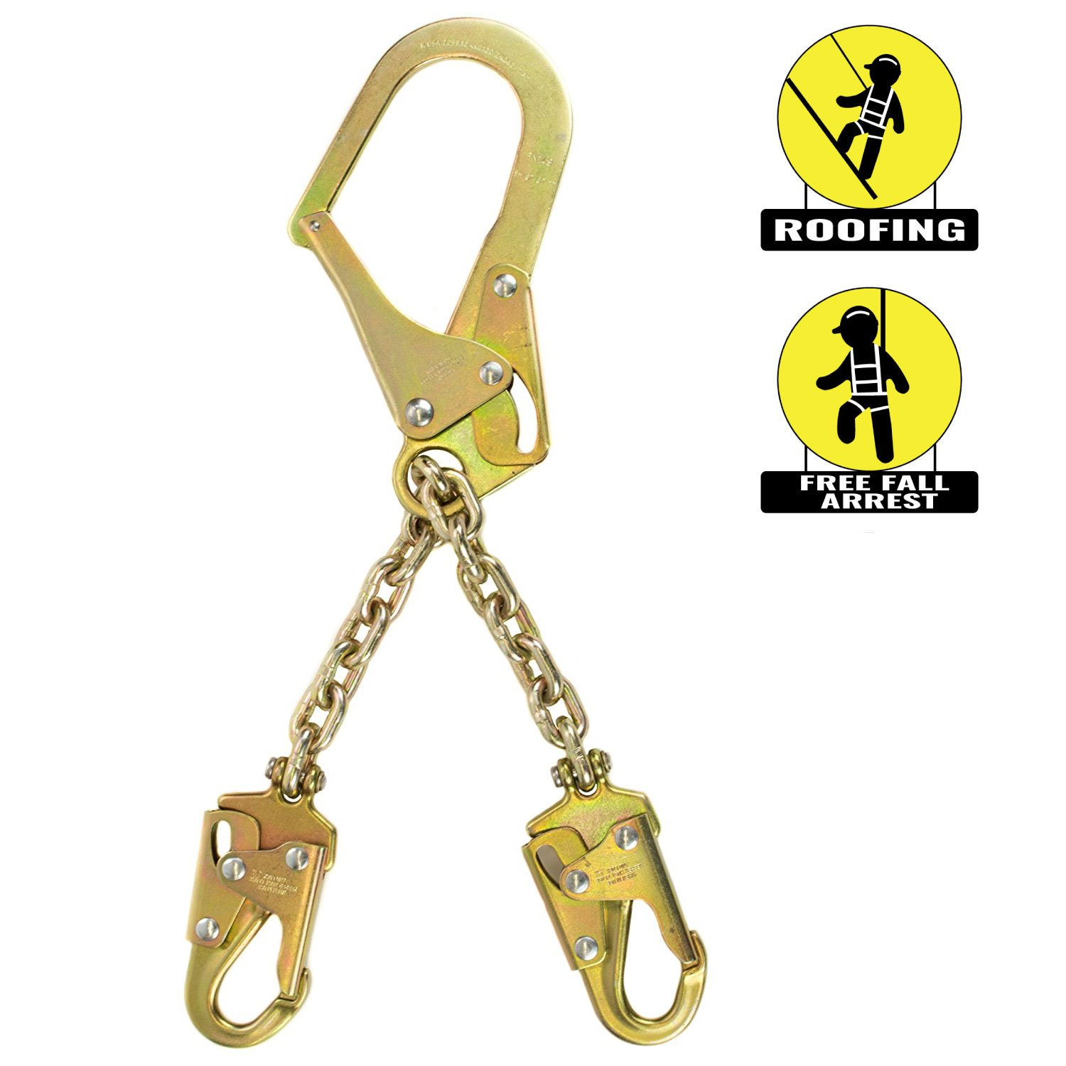 Spidergard SPL-RC01 Rebar Chain Assembly for Positioning with Two Snap Hooks by Spidergard
