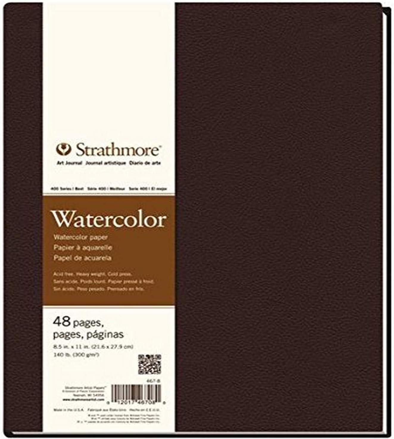 "Strathmore Series 400 Artist Watercolour Journal 8.5/""x11/"" 300gsm//140lbs"