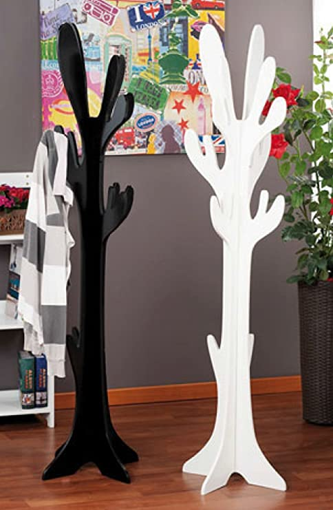 TxT Appendiabiti da terra a forma di albero nero o bianco 42 x 42 x ...