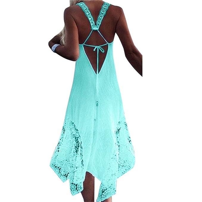 Thytas Women Club Party Sundress Elegant Vestidos Summer Beach Strap Bandage Dress Green 4XL