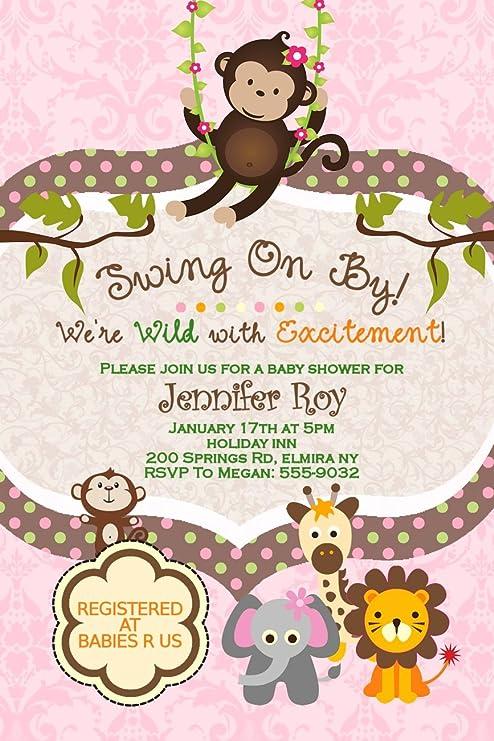 Amazon Jungle Baby Shower Invitations Birthday Party
