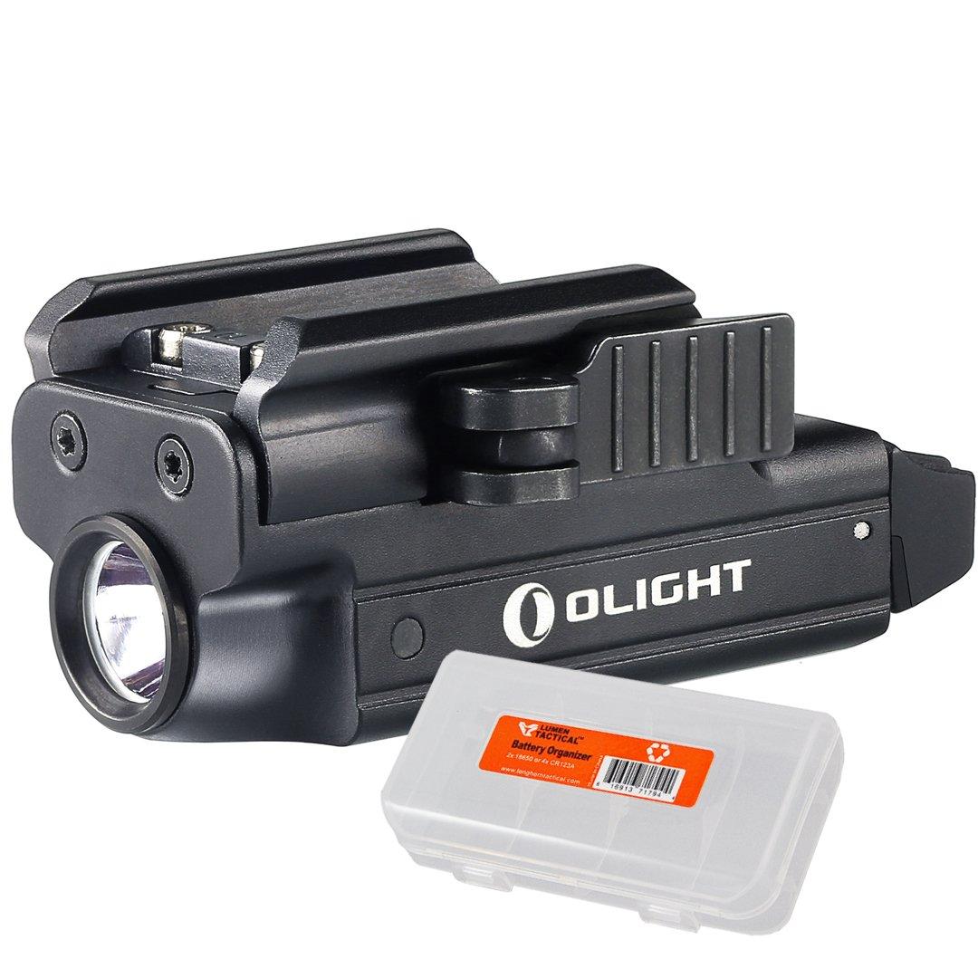 OLIGHT PL-MINI (PL MINI) Valkyrie 400 Lumen Magnetic USB Rechargeable Pistol Light for Glock, Sig Sauer, S&W plus Lumen Tactical Cable Organizer