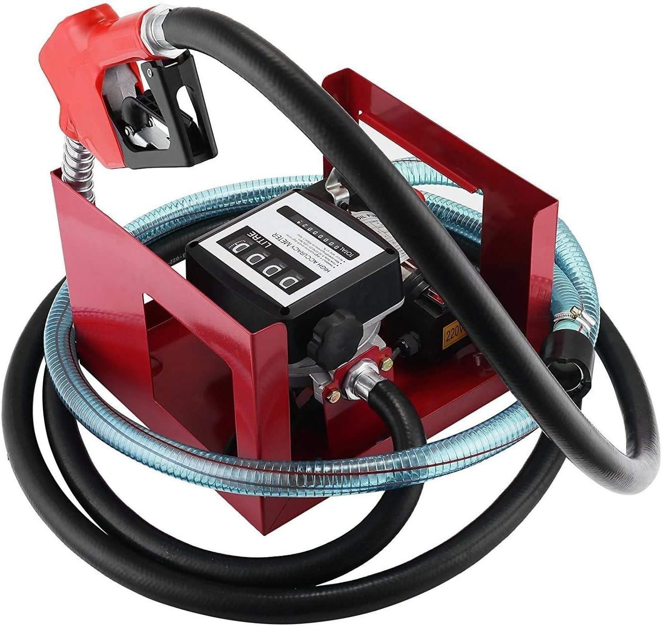 VEVOR diesel pump diesel pump 240v oil transfer pump pump diesel 40L//MIN 600W Electric Fuel Self Priming Diesel Transfer Pump Oil Diesel Single-Phase 600 W Low Noise