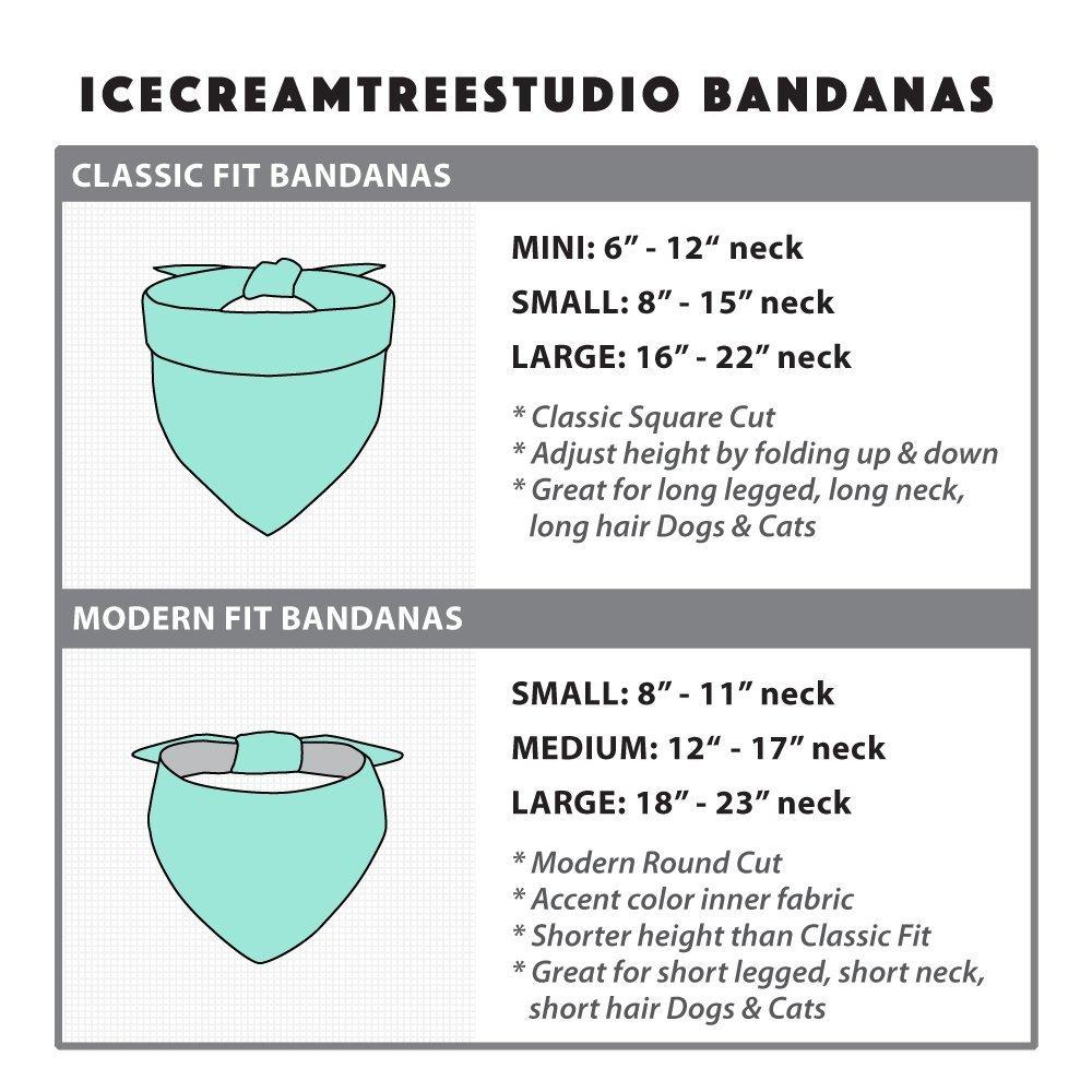 Fiesta - Tie on Classic Pet Bandana Scarf, Pet Fashion Scarf, Dog Bandana Scarf, Cat Bandana Scarf