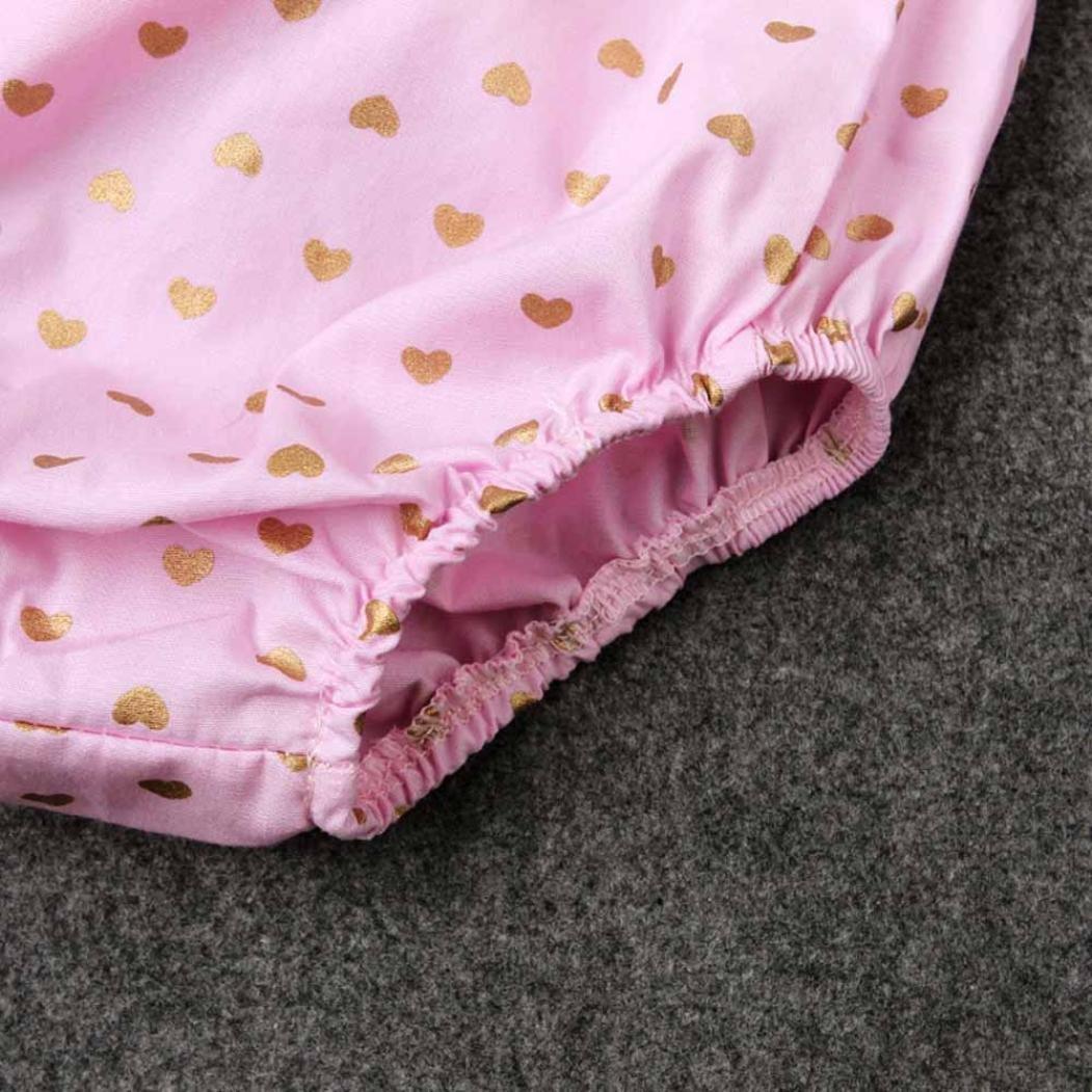 JUNNEY/_Newborn Infant Bodysuit Jumpsuit Sequins Love Heart Outfits