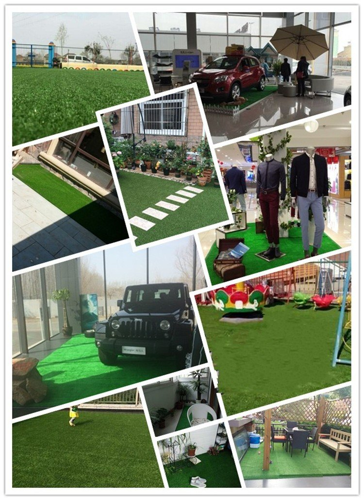 Ez4garden Three-Toned Artificial Grass 2cm Blade Height Natural Lawn Landscape Fake Grass Artificial Anti-wear Turf Tiles Multiple Applications Spring color Many Sizes Optional by Ez4garden