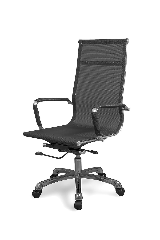 Due-home Silla de Oficina, sillón para despacho o Estudio, Medidas: 58x108x62,5 cm ↗, Color Negro