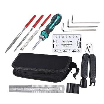 LYWS - Juego de herramientas de reparación de guitarra (9 piezas, para guitarra, ukelelele, bajo): Amazon.es: Instrumentos musicales