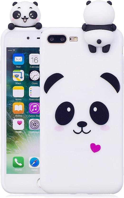 DAMONDY iPhone 8 Plus Case,iPhone 7 Plus Case,3D Cute Cartoon Animals Pattern Soft Silicone Gel Slim Design Rubber Thin Protective Cover Phone Case ...