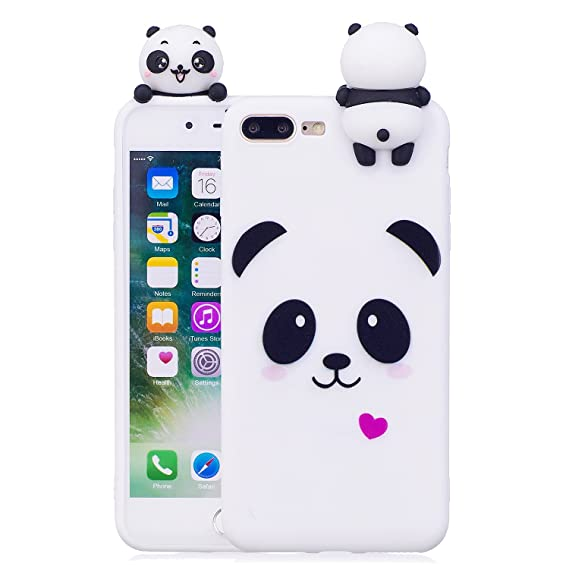 timeless design ccd13 6fd63 DAMONDY iPhone 8 Plus Case,iPhone 7 Plus Case,3D Cute Cartoon Animals  Pattern Soft Silicone Gel Slim Design Rubber Thin Protective Cover Phone  Case ...