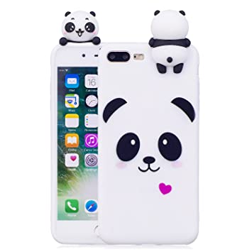 Funda iPhone 8 Plus, Carcasas iPhone 7 Plus 3D Panda Lindo ...