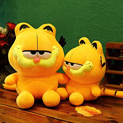 My Super Star Cute Garfield The Cat Plush Dolls Gifts Toys Plush Pillows Boys Girls Yellow Cat Animal Cartoon Figures (25 cm,1 Piece): Toys & Games