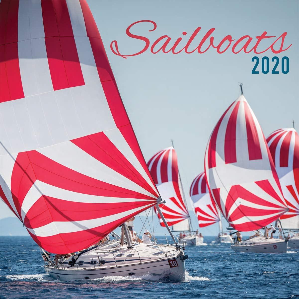 Turner Photo Sailboats 2020 12X12 Photo Wall Calendar 20998940049