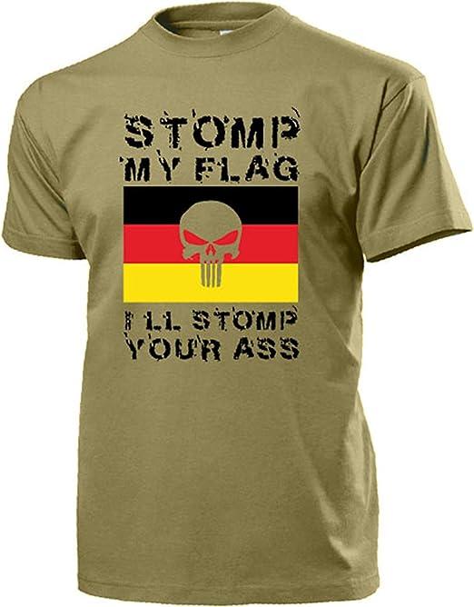 My Flag I Ll Stomp Stomp Your Ass German Flag Flag Skull Isaf German Military Afghanistan Infidel T Shirt 15905 Bekleidung