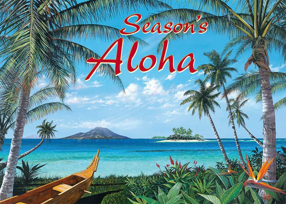 Pacifica Island Art Hawaiian Christmas Cards Set (12) Tropic Travels by Westmoreland