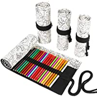 Funny live 24/36/48/72 Slots Colored Pencil Wrap Roll up Pen Holder Case Drawing Coloring Pencil Roll Organizer…