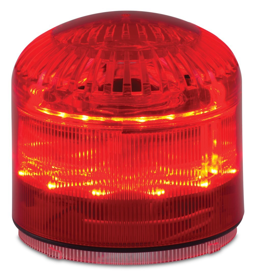Federal Signal SLM600R Streamline Modular Combination LED/Sounder, Red, Required Base Sold Separately, Polycarbonate