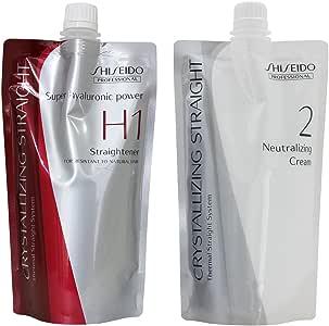 Hair Rebonding Professional Crystallising Hair Straightener (H1) + Neutralising Emulsion (2) for Resistant to Natural Hair