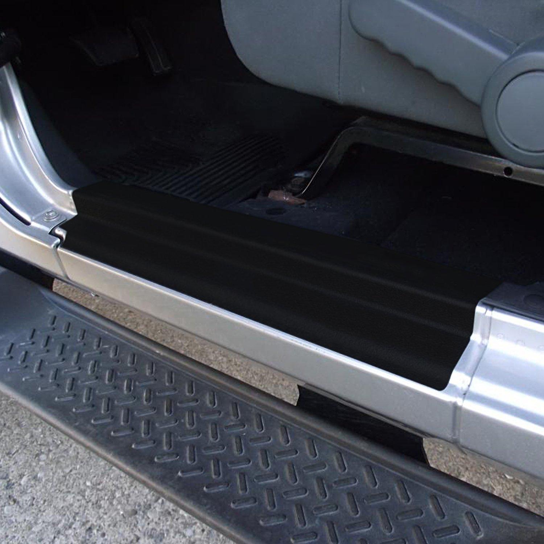 Jeep Wrangler JKU Unlimited 2007-2018 u-Box Jeep JK 4-Door Door Sill Entry Guard PVC Stickers Waterproof in Black