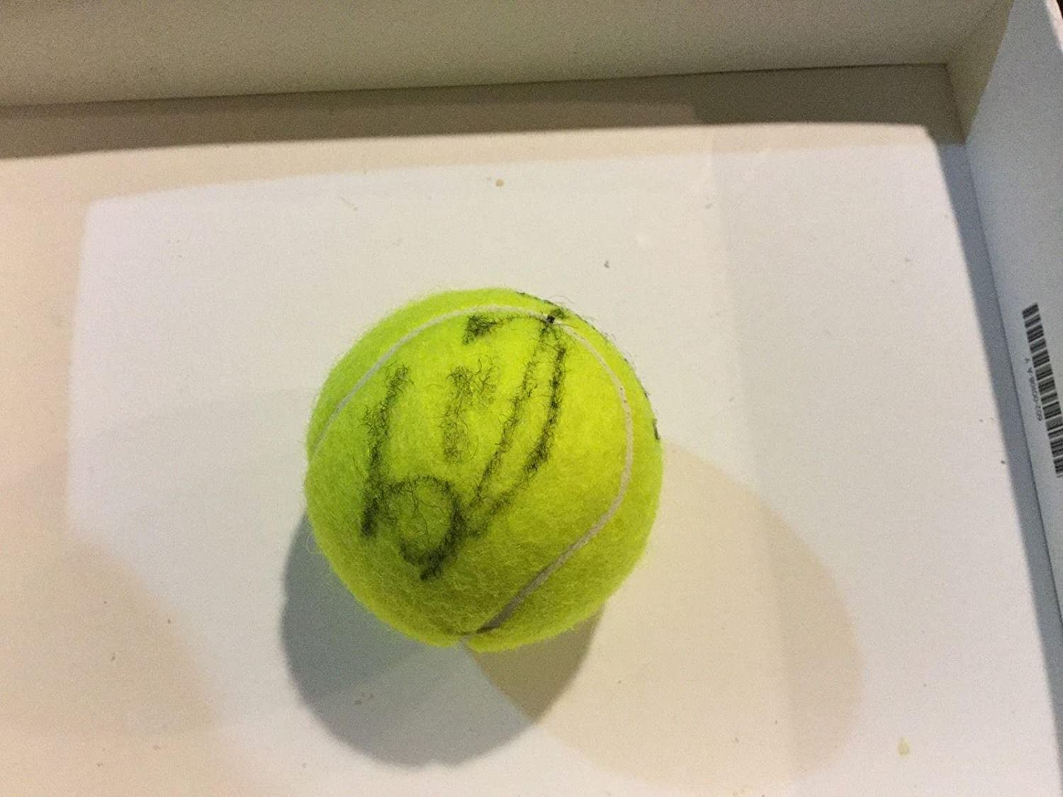Elina Svitolina Signed Slazenger Wimbledon Tennis Ball Autographed PROOF a - Autographed Tennis Balls at Amazons Sports Collectibles Store
