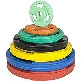 GORILLA SPORTS Hantelscheiben-Set/Einzeln Gummi Gripper - 1,25-25 kg Gewichte mit 30/31 mm Bohrung